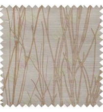 Brown Grey Twigs Design Poly Main Curtain Designs